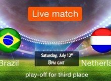 Watch Brazil vs Netherlands , 3rd place game online