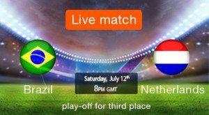 Watch Brazil vs Netherlands , 3rd place game online