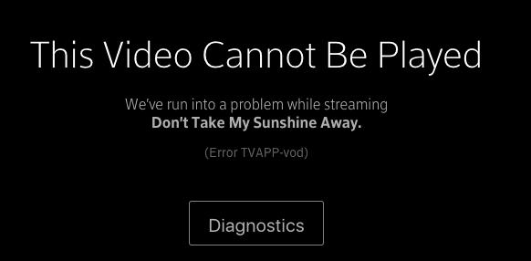 Xfinity Stream Error