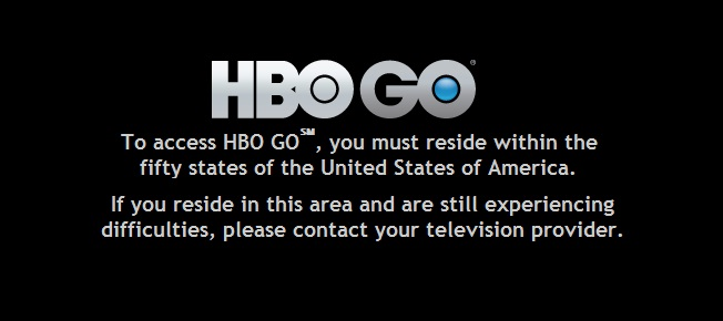 HBO Go error message