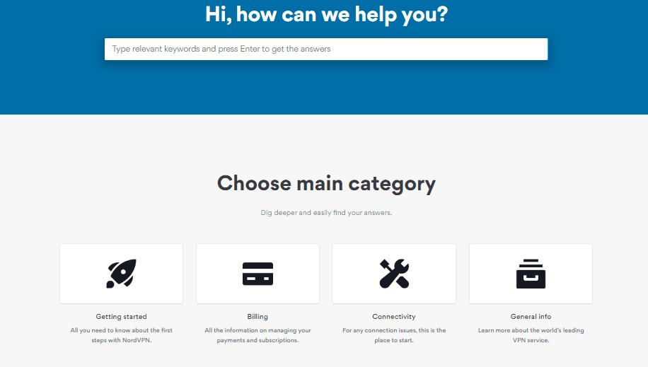 NordVPN FAQ Section