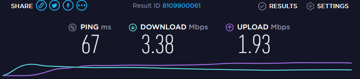 NordVPN Speed Test 3