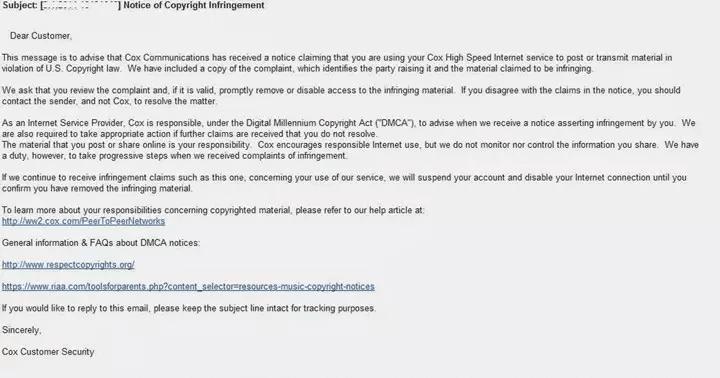 Copyright Message