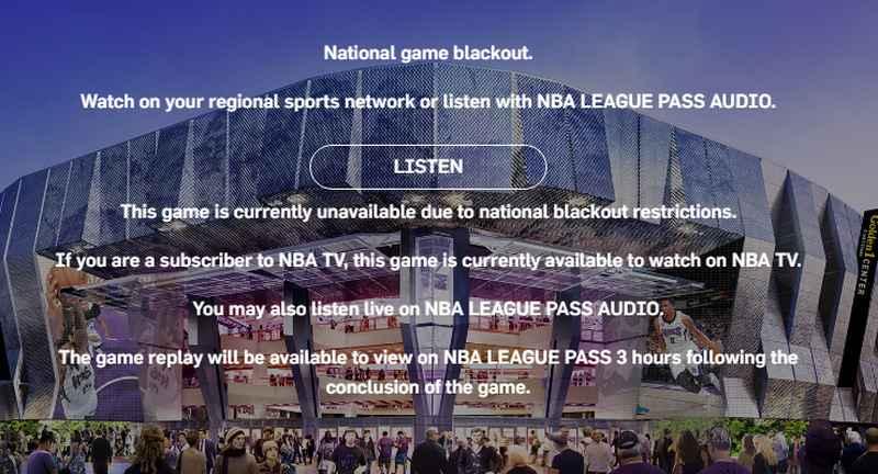 NBA Blackouts