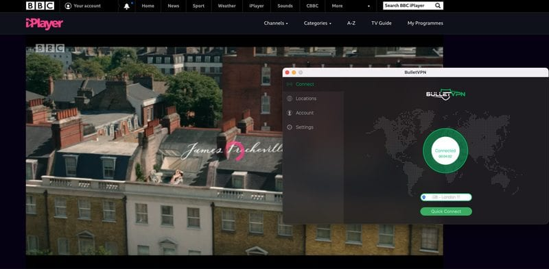 BulletVPN BBC iPlayer