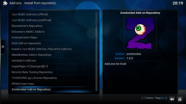 How to Install Zomboided on Kodi