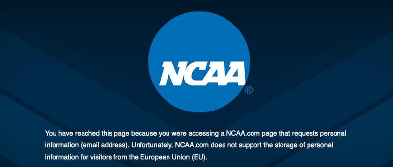NCAA Error 1