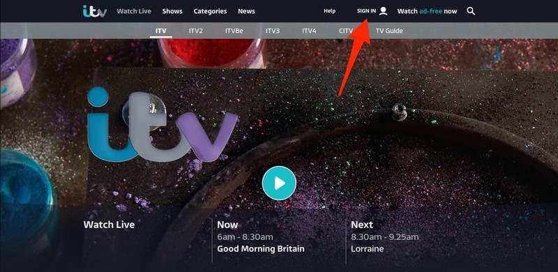 ITV Sign In