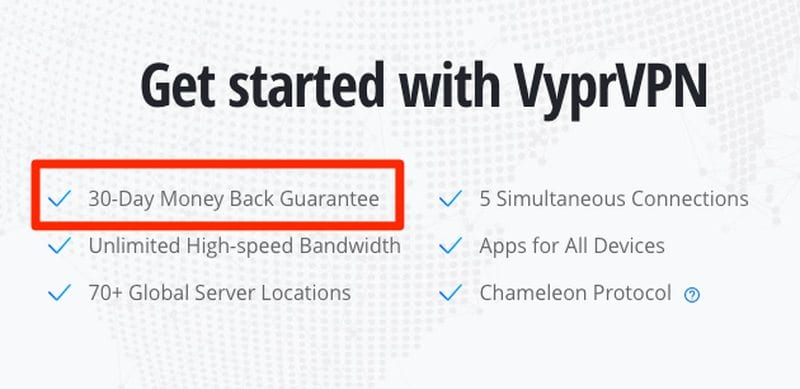 Money-Back Guarantee VyprVPN