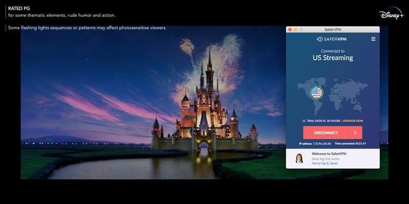 SaferVPN Disney+