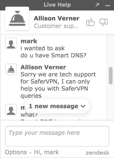SaferVPN Smart DNS 1