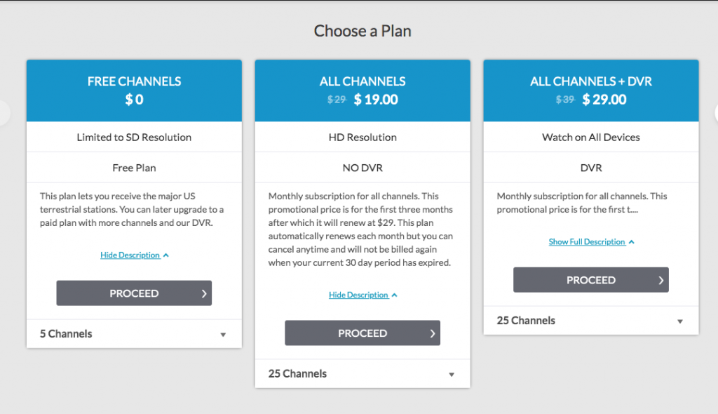 USTV Plans