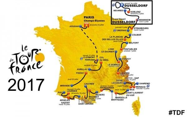 Le Tour de France 2017 Route Map