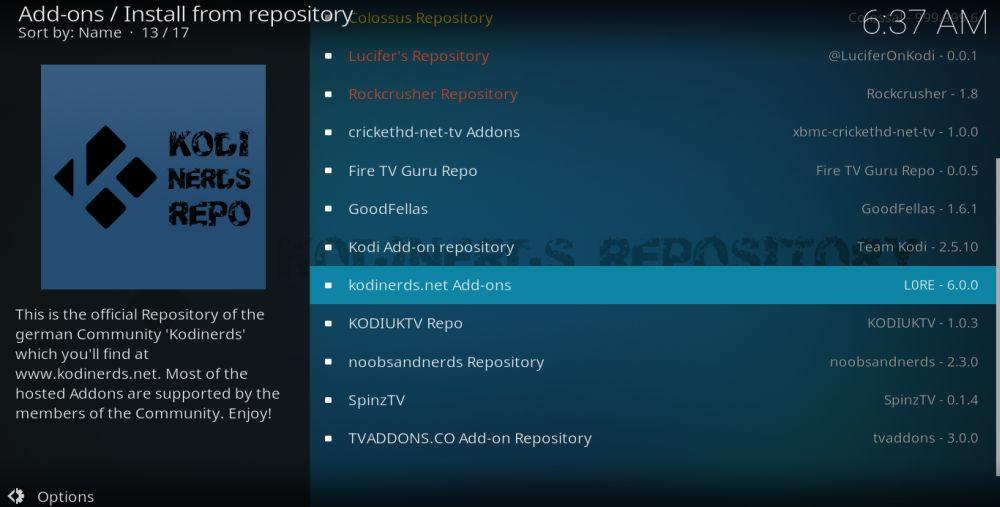 KodiNerds Repository