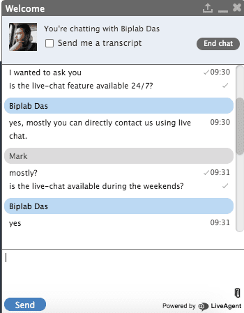 Live Chat 2 PrivateVPN