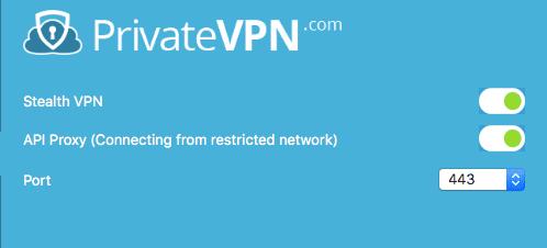 PrivateVPN Stealth Mode