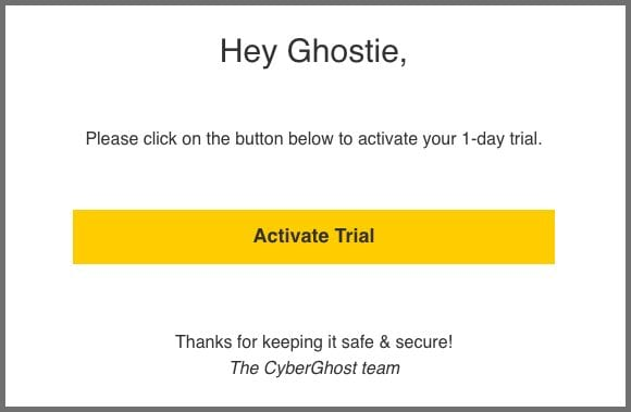 CyberGhost 1-day Free Trial
