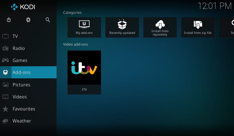 Enter Kodi Add-ons