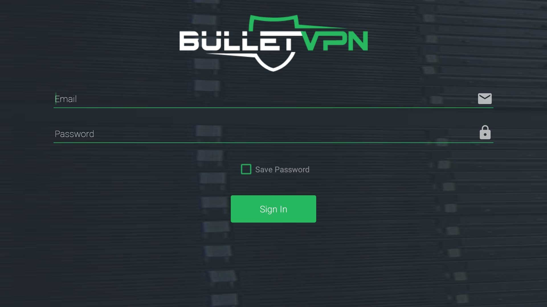 Enter Your BulletVPN Credentials