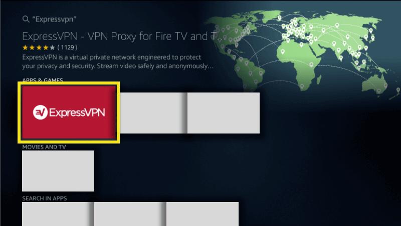 Choose ExpressVPN FireStick
