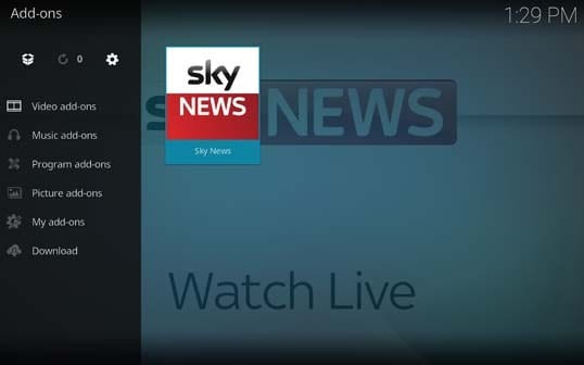 How to Install Sky News on Kodi?