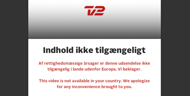TV2 Play Error