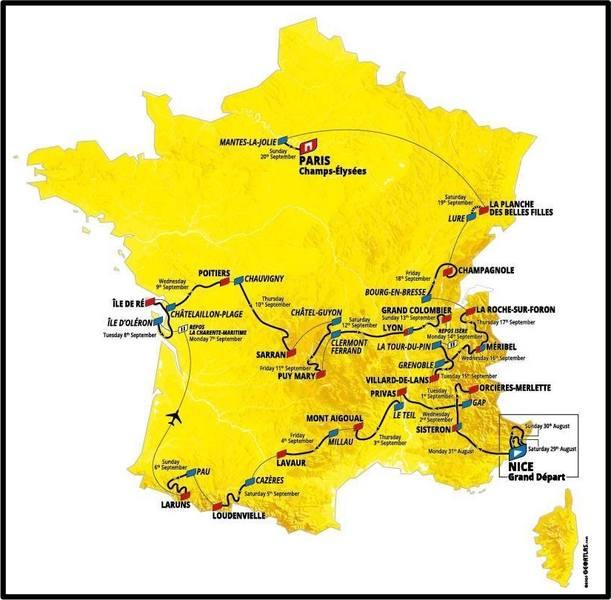 Tour De France 2020 Map