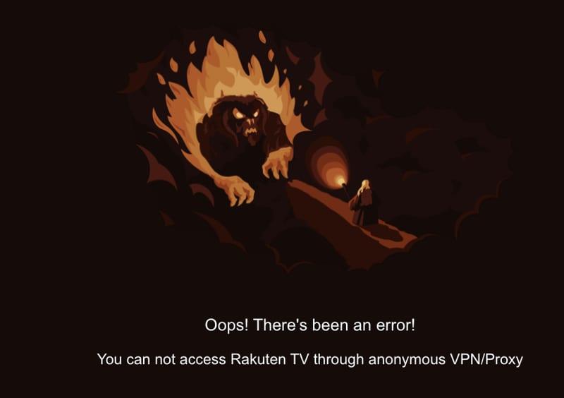 Rakuten VPN Block