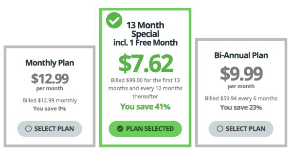 Buffered VPN - Pricing Plan
