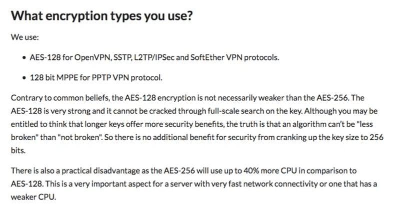 CactusVPN Encryption