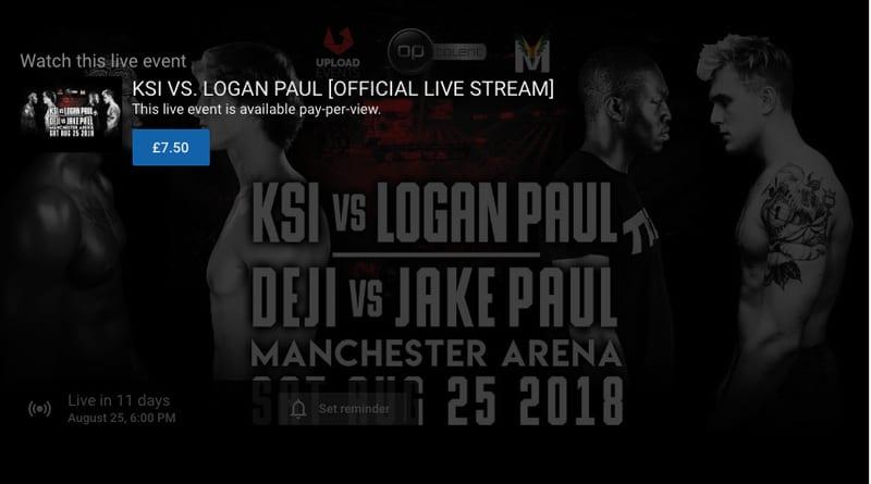 How To Watch Ksi Vs Logan Paul Live Stream Online The