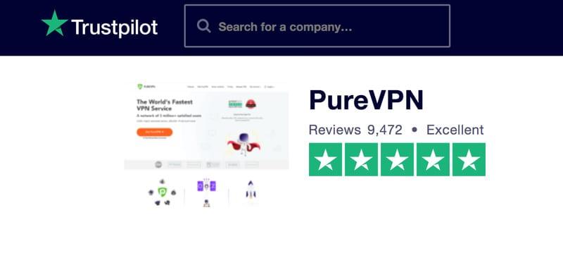 TrustPilot PureVPN