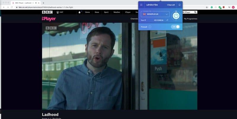 BBC iPlayer Windscribe