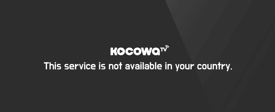 Kocowa Error message