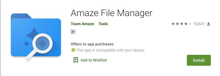 Amaze File Manager Google