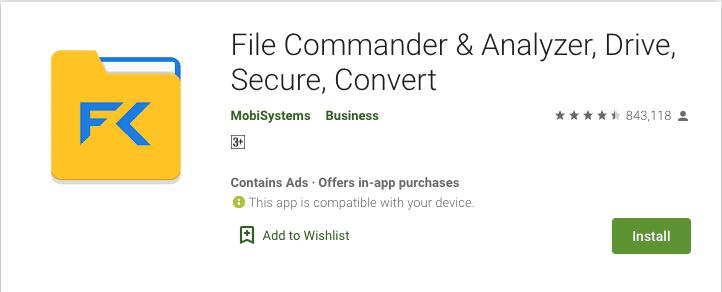 File Commander Google