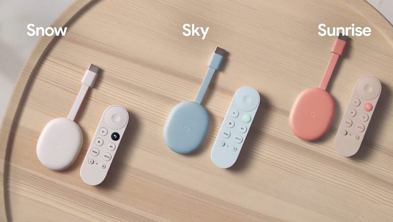 Chromecast With Google TV Colors