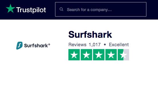 SurfShark Review TrustPilot