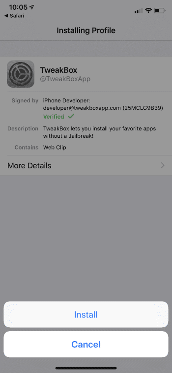 Tweakbox Click Install
