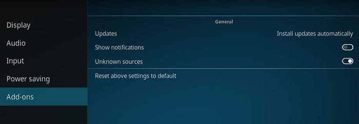 Unknown Sources on Kodi 18