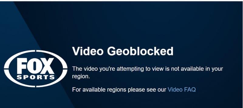 Fox Sports Geo-Error