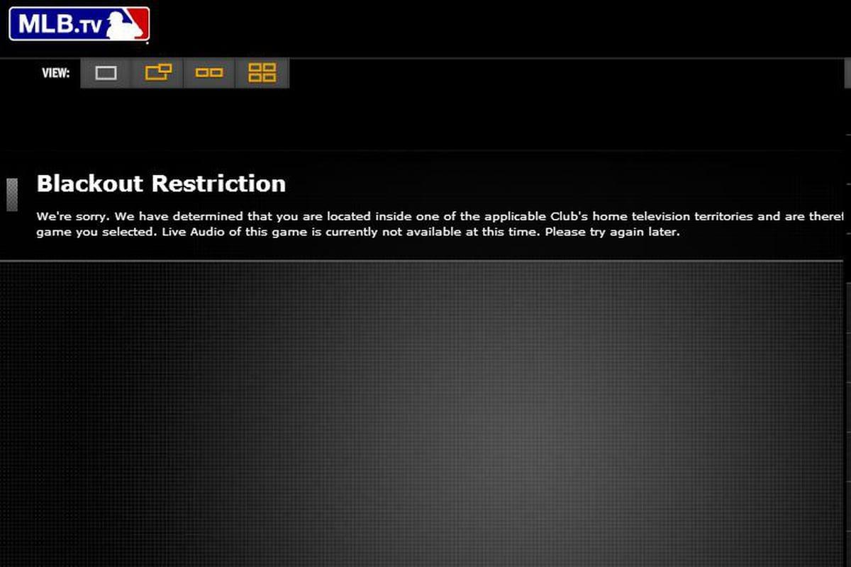 MLB Blackout Error