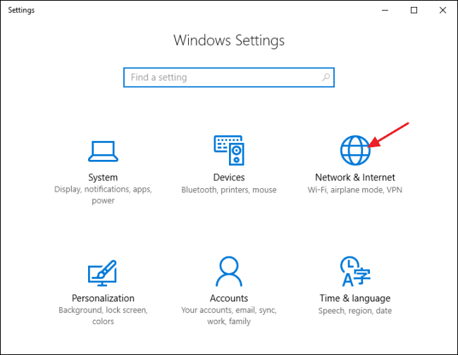 Settings Windows
