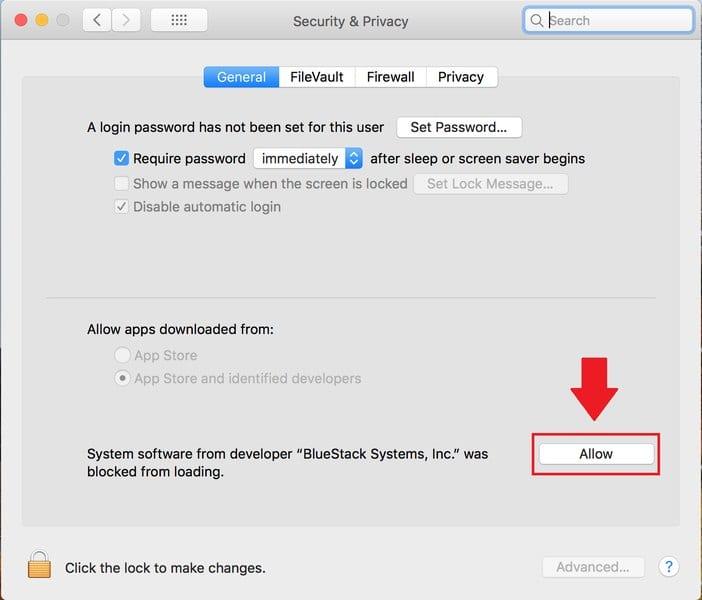 Allow Access Mac