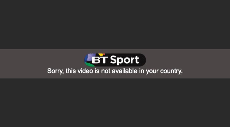 BT Sport Error