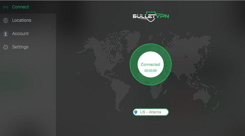 BulletVPN Connected