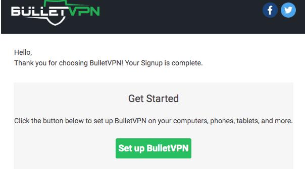 BulletVPN Setup
