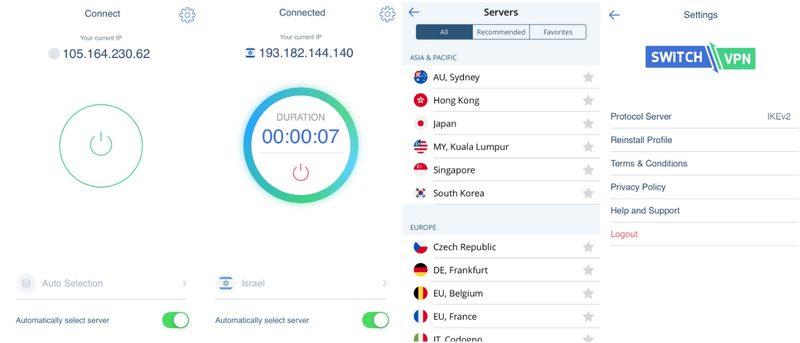 SwitchVPN Mobile App
