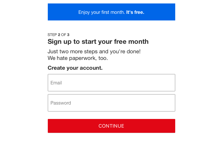 Netflix Submit Your Email