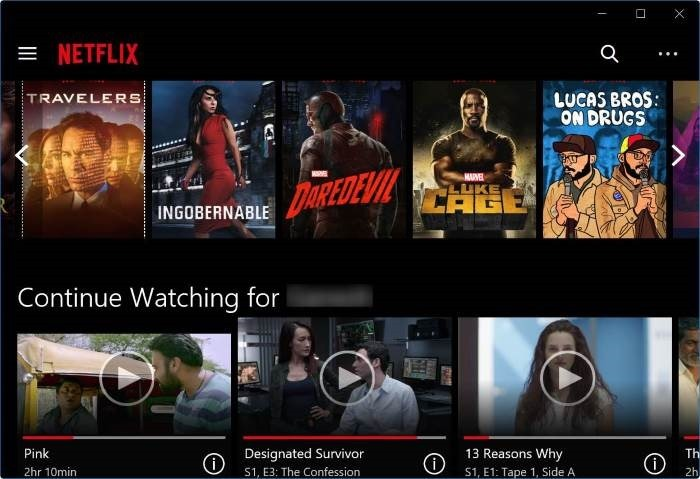 Netflix WIndows
